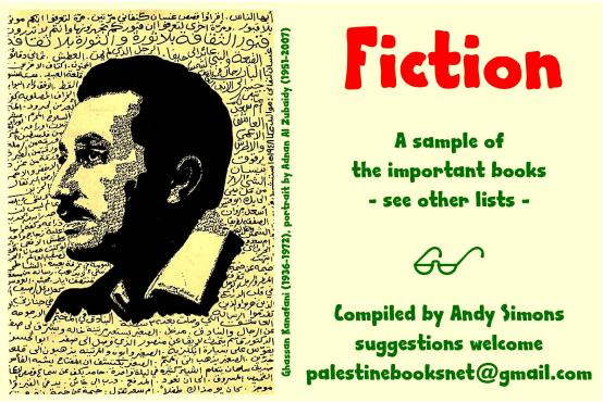 palestinebooksnet - header graphic - Fiction (Ghassan Kanafani portrait)